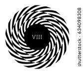 circular spiral element.... | Shutterstock .eps vector #634098308