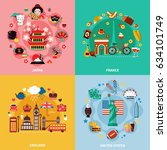 tourism 2x2 design concept with ... | Shutterstock .eps vector #634101749