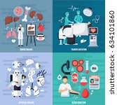 transplantation 2x2 design... | Shutterstock .eps vector #634101860