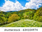mountain meadow landscape | Shutterstock . vector #634104974