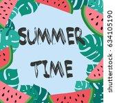 summer time. tropical vector... | Shutterstock .eps vector #634105190