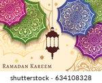 ramadan kareem celebrate... | Shutterstock .eps vector #634108328