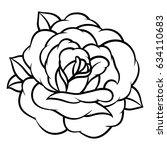 flower rose  black and white.... | Shutterstock .eps vector #634110683