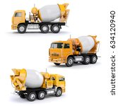 3d concrete mixer truck on... | Shutterstock . vector #634120940