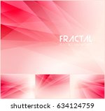 fractal abstract background... | Shutterstock .eps vector #634124759