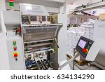 industrial printer machine with ... | Shutterstock . vector #634134290