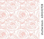 rose beige powdery pattern.... | Shutterstock .eps vector #634141928