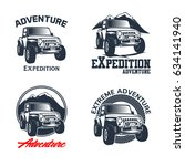 off road vehicle vector emblems | Shutterstock .eps vector #634141940