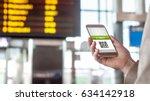 buying online ticket from...   Shutterstock . vector #634142918