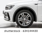 the car a side view on a wheel  ... | Shutterstock . vector #634144430