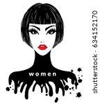 illustration of women short... | Shutterstock .eps vector #634152170