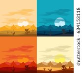desert landscape days and... | Shutterstock .eps vector #634153118