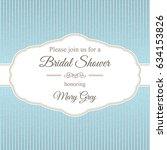 greeting card for bridal shower | Shutterstock .eps vector #634153826