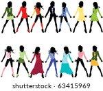 fashion girls   Shutterstock .eps vector #63415969