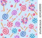 stock illustration seamless... | Shutterstock .eps vector #634160000