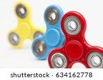 popular fight spinner toys | Shutterstock . vector #634162778