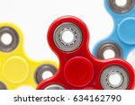 popular fight spinner toys | Shutterstock . vector #634162790