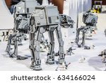 Small photo of Poznan, Poland, April 29, 2017 Pyrkon - Fantasy Convention - Star Wars Lego Empire Attack in Battle of Hoth