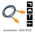 ear plugs vector illustration.... | Shutterstock .eps vector #634172519