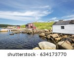 a shore line view of the small... | Shutterstock . vector #634173770