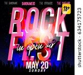 rock festival flyer design... | Shutterstock .eps vector #634175723