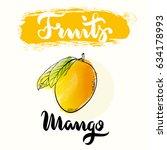 mango fruit label design for... | Shutterstock .eps vector #634178993