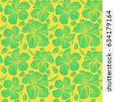 natural yellow and green... | Shutterstock . vector #634179164