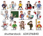 a large vector set of... | Shutterstock .eps vector #634196840