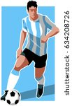 argentina soccer player | Shutterstock .eps vector #634208726
