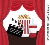 cinema entertainment elements... | Shutterstock .eps vector #634211120