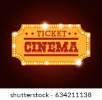 ticket cinema isolated icon | Shutterstock .eps vector #634211138