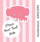 cute baby elephant | Shutterstock .eps vector #63421594