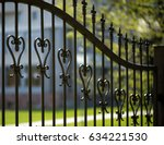 wrought iron tracery black... | Shutterstock . vector #634221530