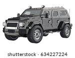 suv luxury transport with black ... | Shutterstock . vector #634227224