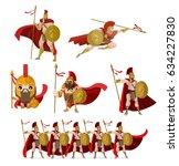 spartan soldier warriors | Shutterstock .eps vector #634227830
