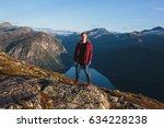 a european male tourist in... | Shutterstock . vector #634228238