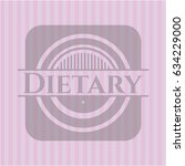 dietary retro style pink emblem   Shutterstock .eps vector #634229000