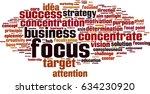 focus word cloud concept.... | Shutterstock .eps vector #634230920