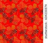 hawaiian tropical natural... | Shutterstock . vector #634233374