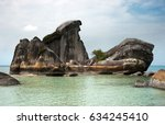 natural rock formation in sea... | Shutterstock . vector #634245410