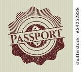 red passport distressed rubber... | Shutterstock .eps vector #634252838