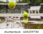 tennis court. hard court in... | Shutterstock . vector #634259750