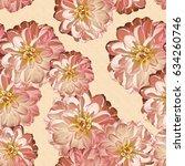 seamless background. flowers.... | Shutterstock . vector #634260746