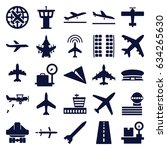 airplane icons set. set of 25... | Shutterstock .eps vector #634265630