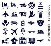 cargo icons set. set of 25... | Shutterstock .eps vector #634267370