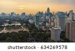 sunset over banjakitti park in... | Shutterstock . vector #634269578