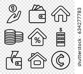 loan icons set. set of 9 loan... | Shutterstock .eps vector #634277783