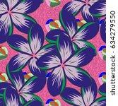 floral seamless pattern... | Shutterstock .eps vector #634279550