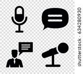 speak icons set. set of 4 speak ... | Shutterstock .eps vector #634280930