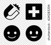 positive icons set. set of 4... | Shutterstock .eps vector #634283204